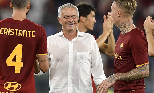 Roma coach Mourinho delighted after victory over Udinese 55goal